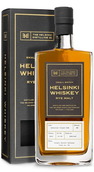 Helsinki Rye Malt Whiskey #6 American Virgin Oak Single Barrel Release
