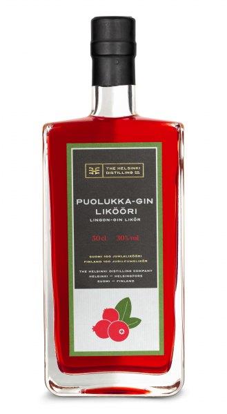 Helsinki Puolukka-Gin Likööri Preiselbeer-Gin-Likör
