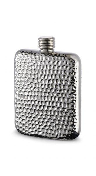 Herbertz Taschenflasche Edelstahl mit Reliefoberfläche 170 ml