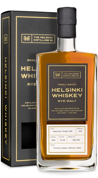 Helsinki Rye Malt Whiskey #15 American Virgin Oak Finnish Summer Edition 2019