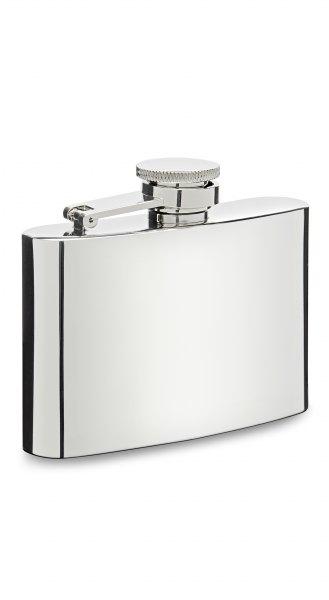 Herbertz Taschenflasche Edelstahl hochglanzpoliert 118 ml