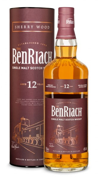 BenRiach 12 Jahre Sherry Wood Speyside Single Malt Whisky