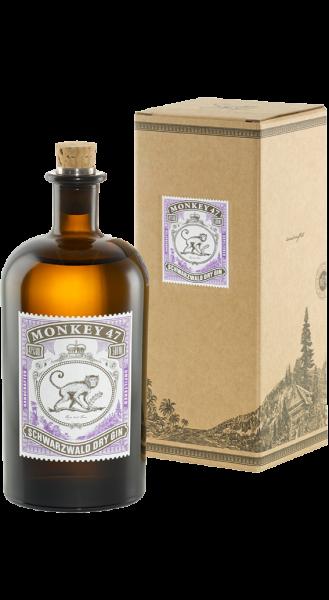 Monkey 47 Schwarzwald Dry Gin mit Geschenkkarton