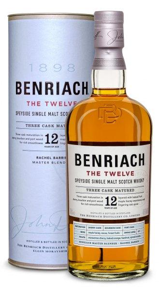 BenRiach 12 Jahre The Twelve Speyside Single Malt Whisky