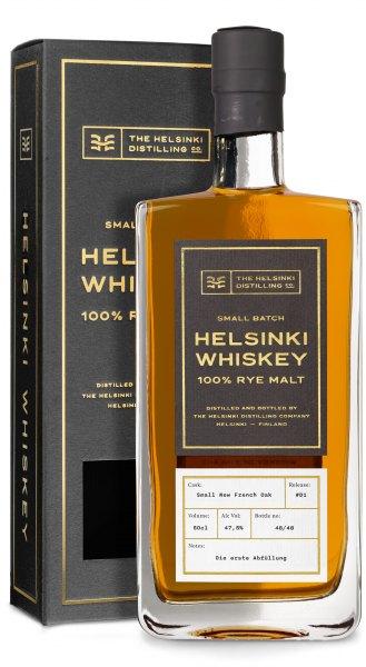 """Helsinki 100 % Rye Malt Whiskey, Batch #D1 """"Die erste Abfüllung"""""""