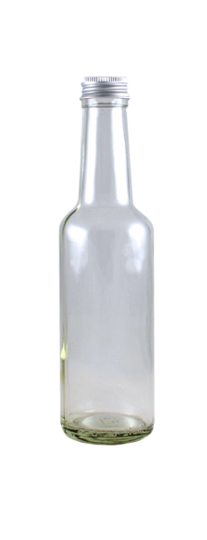 Geradhalsflasche 250 ml mit Schraubverschluss