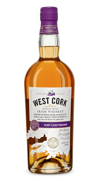 West Cork Port Cask Finished Irish Single Malt Whiskey