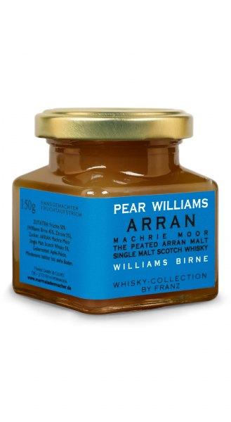 Williamsbirne & Arran Machrie Moor Peated Single Malt Whisky Fruchtaufstrich